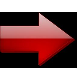 Droite, Fleche, Rouge Icon