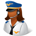 Dark, Female, Pilot Icon