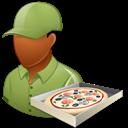 Dark, Male, Pizzadeliveryman Icon