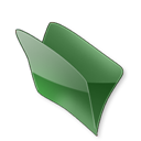 Dossier, Vert Icon