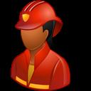 Dark, Female, Firefighter Icon