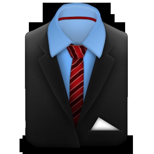 Red, Stripes, Tie Icon