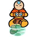 Aang, Air, Scooter Icon
