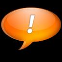 Chat, Orange Icon