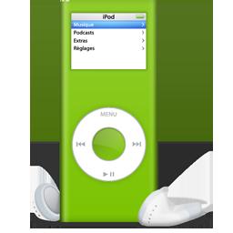 Ipod, Nano, Vert Icon