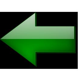Fleche, Gauche, Vert Icon