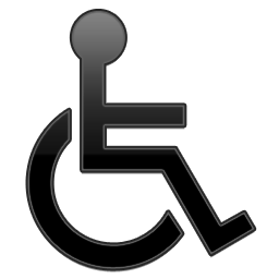 Black, Handicap, Symbol Icon