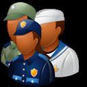 Dark, Group, Militarypersonnel Icon