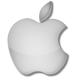Apple, Gris Icon