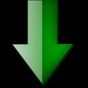 Bas, Fleche, Vert Icon