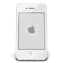 Apple, Ipone, White Icon