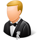 Bridegroom, Light, Wedding Icon
