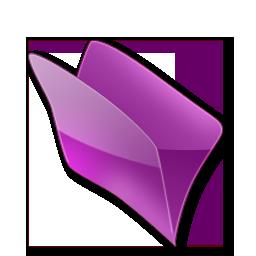 Dossier, Violet Icon