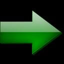 Droite, Fleche, Vert Icon