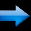Bleue, Droite, Fleche Icon
