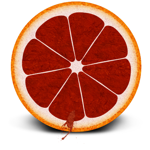 Blood, Orange Icon