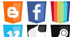 Modern Web Social Icons