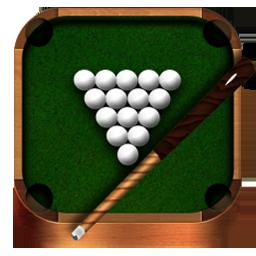 Billiards, Wooden Icon