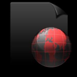 Black, File, Red, Web Icon