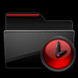 Black, Folder, Red, Tasks Icon