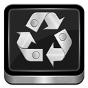 Full, Metallic, Recycle Icon