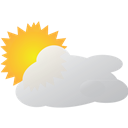 Mostly, Sunny, Weather Icon