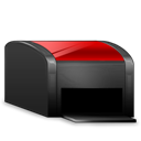 Black, Printer, Red Icon