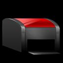 Black, Printer, Red Icon