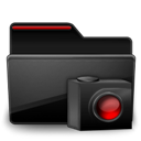 Black, Cameras, Folder, Red Icon