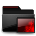 Black, Folder, Images, Red Icon
