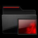 Black, Folder, Images, Red Icon