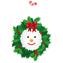 Snowman, Wreath Icon