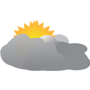 Cloudy, Mostly, Weather Icon