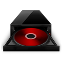 Black, Cd, Red, Rom Icon