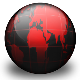 Black Globe Red Icon Download Free Icons