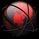Black, Entire, Network, Red Icon