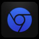 Blueberry, Chrome Icon
