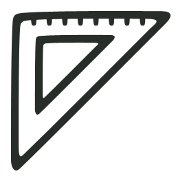 Outline, Triangle Icon
