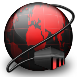 Black, Connections, Network, Red Icon