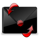 Black, Mail, Red Icon
