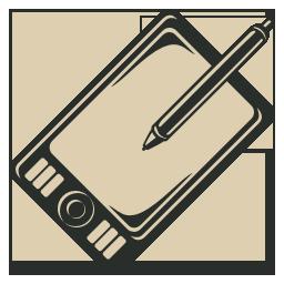 Tablet, Vintage, Wacom Icon