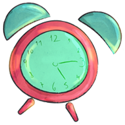Cartoon, Clock Icon