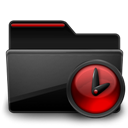Black, Folder, Red, Tasks Icon