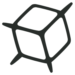 3d, Outline Icon