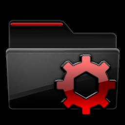Black, Folder, Options, Red Icon