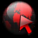 Black, Network, Red, Service Icon