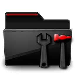 Admin Black Folder Red Icon Download Free Icons