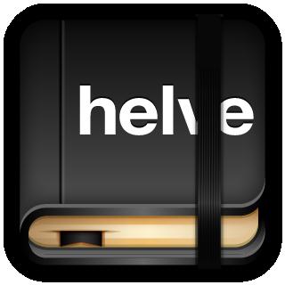 Helvetica, Moleskine Icon