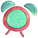 Cartoon, Clock Icon