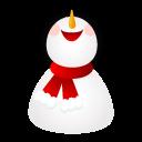 Smiling, Snowman Icon